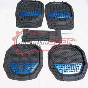 Black Blue Universal Floor Mats 5 pcs